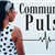 image of a woman looking down at a heart beat pulse line with the text &#34Community Pulse&#34