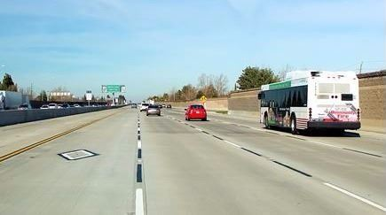 image of traffic on Interstate 5 at March Lane in Stockton