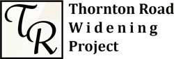 logo for Thornton Road Widening project