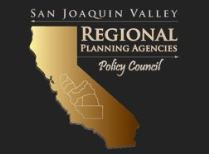 Map highlighting the eight counties in California that make up the San Joaquin Valley Regional Plann