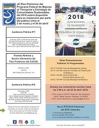 Thumbnail of Draft RTP SCS 2018 Outreach Flyer Final in Spanish