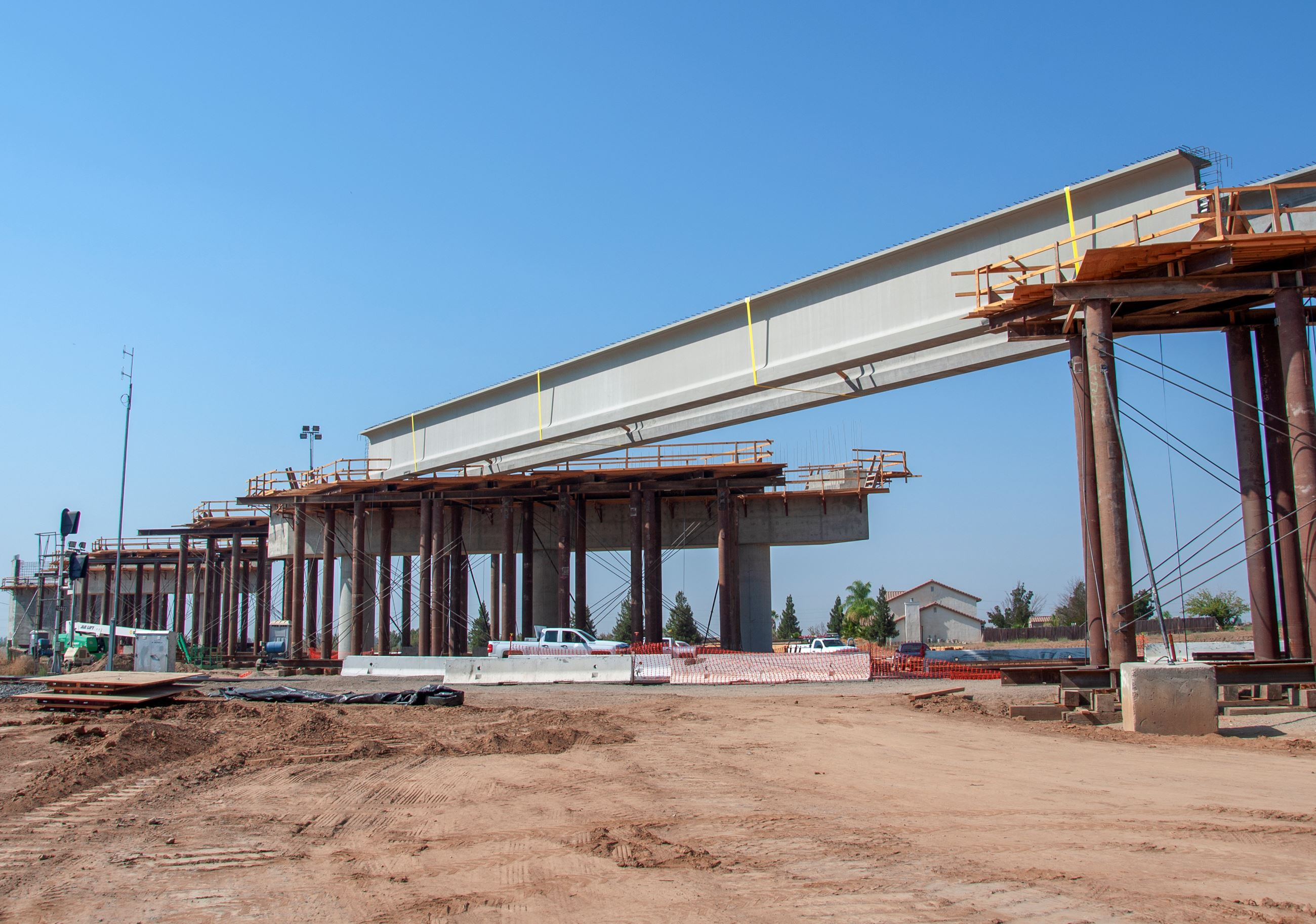 CA high speed rail Construction over Road 27 in Madera County