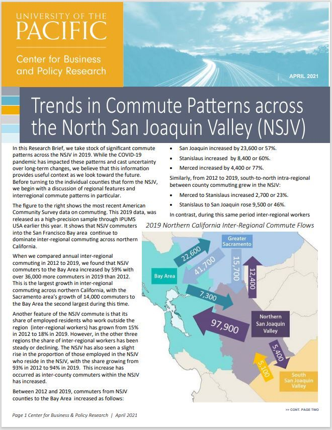 Trends in commute patterns